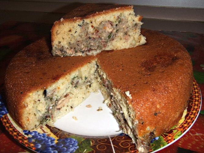 Пирог с картофелем и рыбными консервами в мультиварке (667x500, 320Kb)