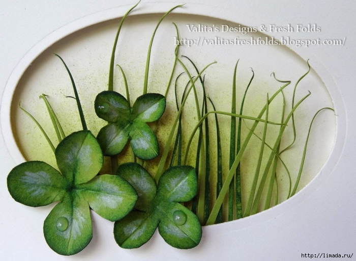 Lucky clover st patrick's day card2 (700x512, 253Kb)