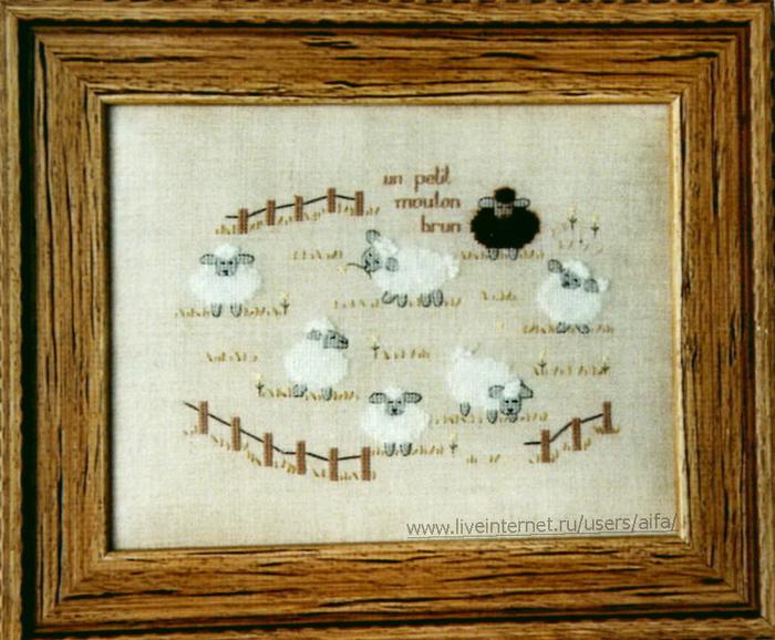 Вышивка крестом, схемы Овечки