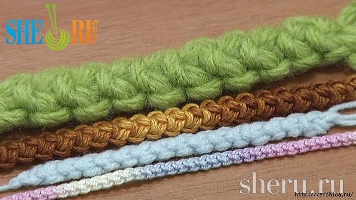 Видео вязания шнура ирландского кружева