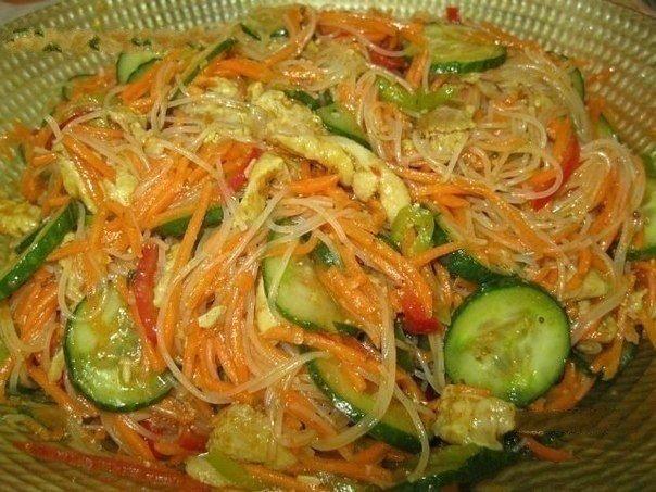 Салат с фунчозой. (604x453, 78Kb)