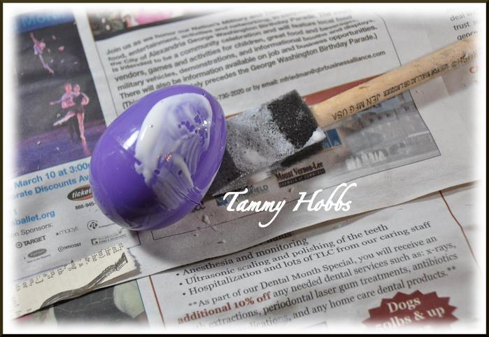 Винтажная елочка - топиарий с пасхальными яйцами (8) (700x481, 312Kb)