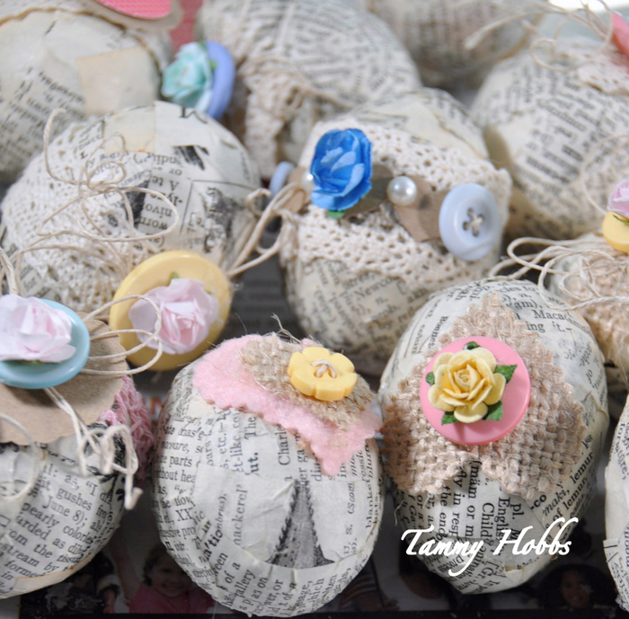 Винтажная елочка - топиарий с пасхальными яйцами (12) (700x689, 535Kb)