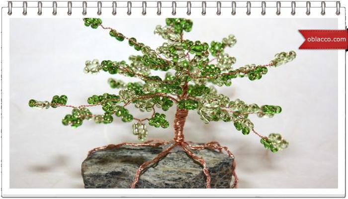 Декоративное дерево из бисера. Мастер класс