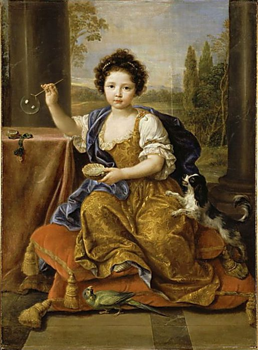 1Portrait of Louise-Marie-Anne de Bourbon, Pierre Mignard (1612 - 1695), 1674  (515x700, 73Kb)