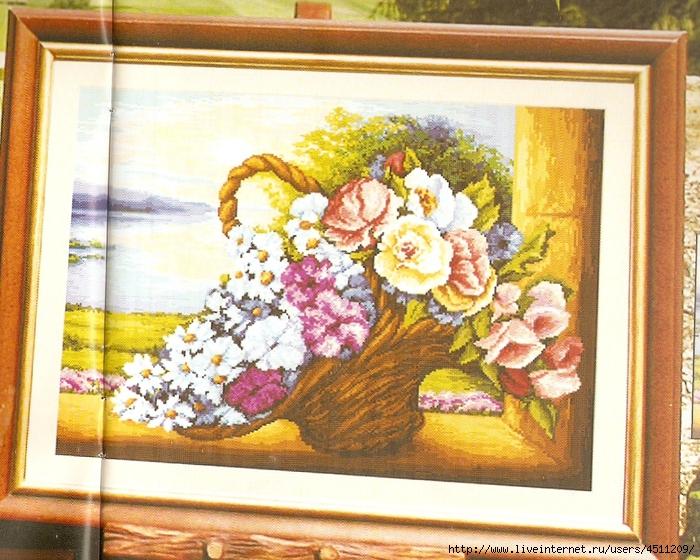 корзина с цветами (700x560, 381Kb)