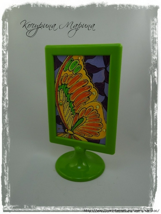 стеклянная открытка бабочка (525x700, 205Kb)