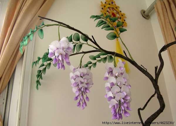 Цветок из капроновой ленты своими руками мастер