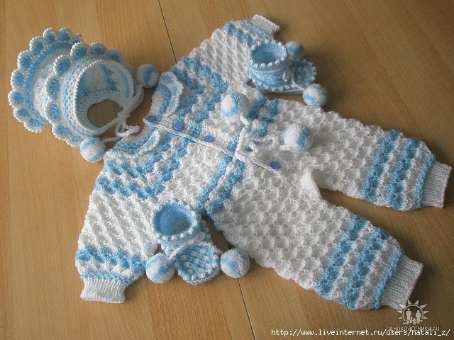 Связать детский костюм спицами до 1 года мальчику