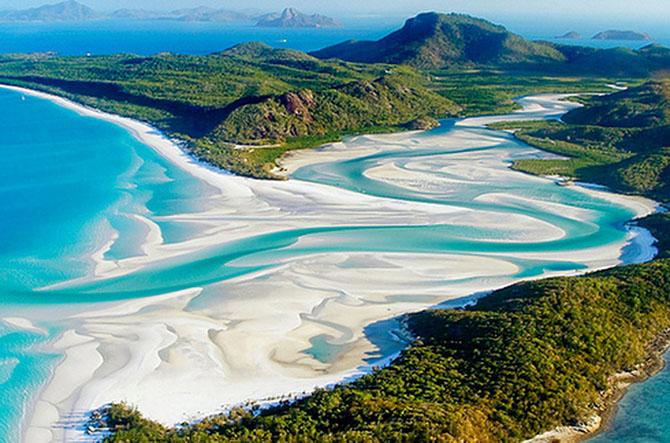 1. Австралия. Пляжи Белой гавани (670x443, 338Kb)