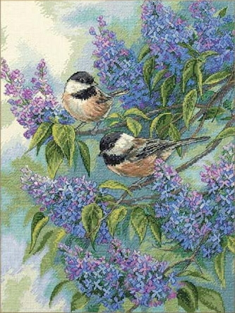 Dimensions 35258 Chickadees and Lilacs (333x443, 176Kb)