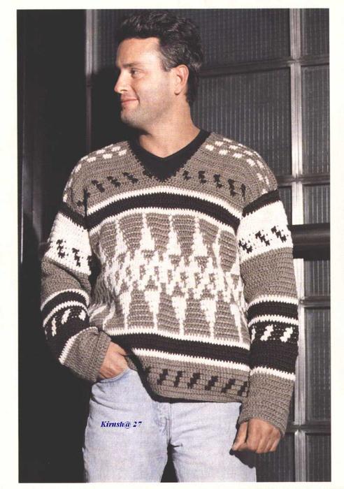 Вязанье спицами для мужчин (24) (492x700, 298Kb)