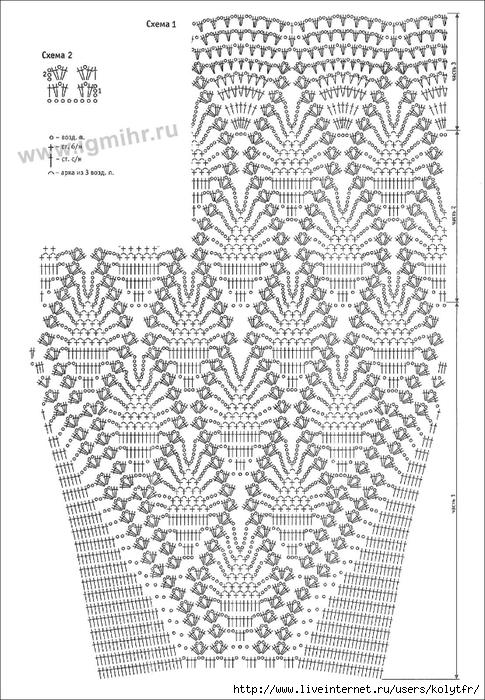 Узоры для вязания крючком детских юбок