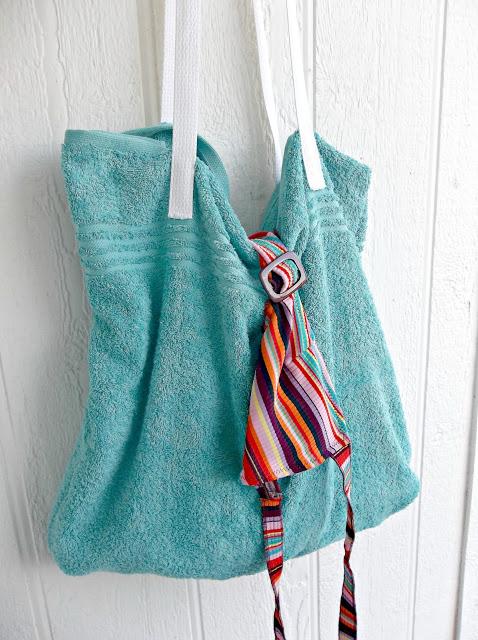 Пляжная сумка из банного махрового полотенца (2) (478x640, 292Kb)
