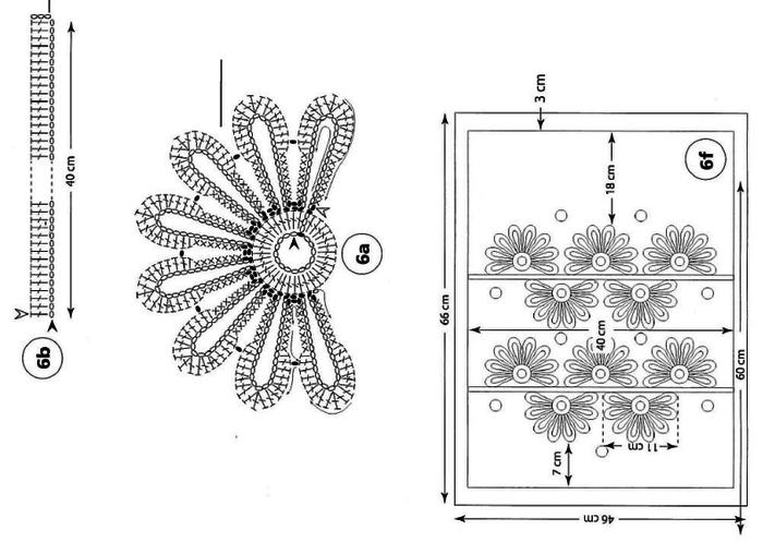 Украшение подушек кружевом крючком. Идеи и схемы (15) (700x497, 94Kb)