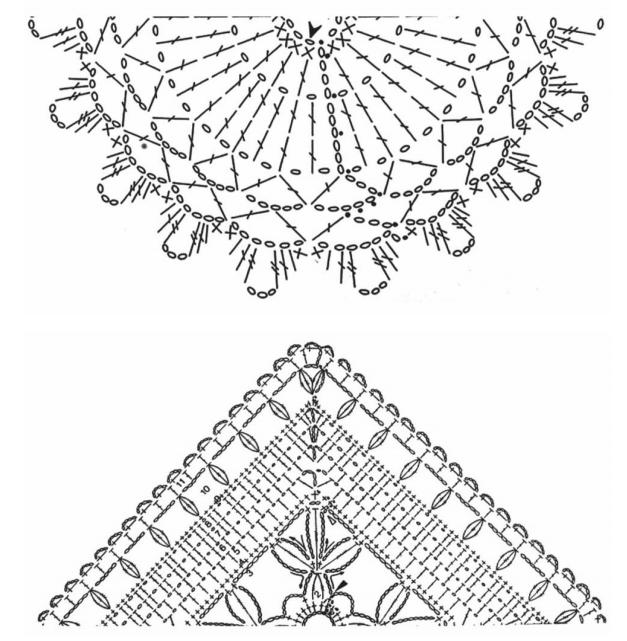 Almohadilla de la decoración del ganchillo del cordón.  Las ideas y los esquemas (17) (627x641, 245Kb)