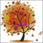 Превью Осеннее дерево (492x488, 367Kb)