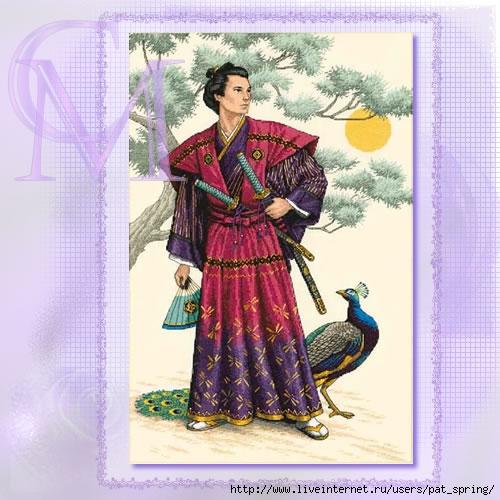 Вышивка крестом+самурай