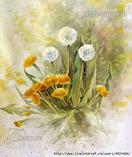 Рисуем первые цветы