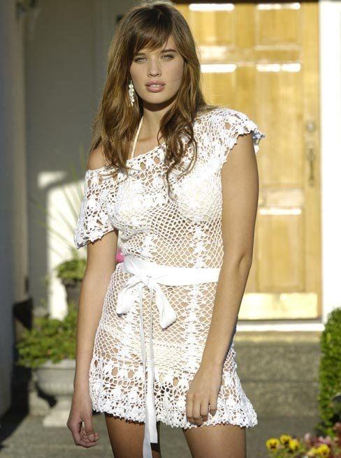 вязаное платье крючком (488x656, 164Kb)