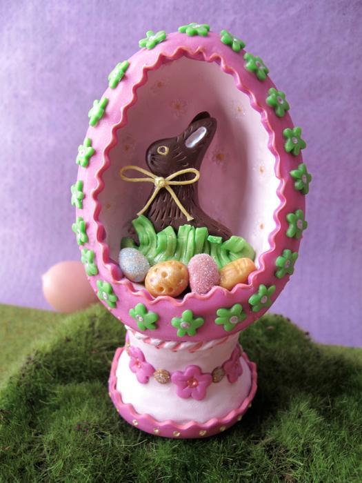Пасхальное яйцо с зайчиком из полимерной глины (13) (525x700, 427Kb)