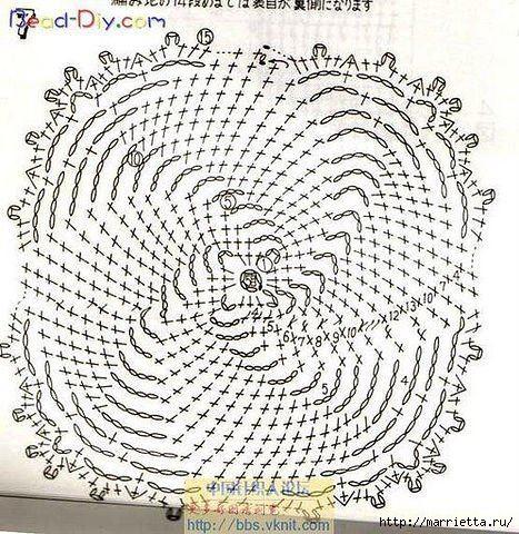 Сумочка с завитушками. Вязание крючком (2) (467x480, 232Kb)