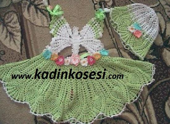 Бабочка крючком для детского летнего сарафана (1) (550x401, 248Kb)