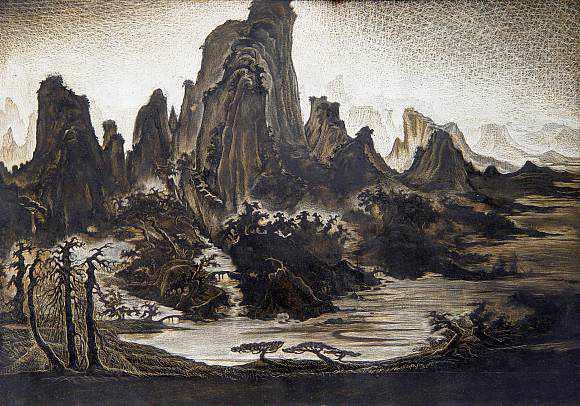 Китайский пейзаж. (580x406, 309Kb)