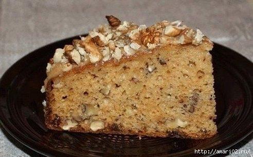 Ореховый пирог на сгущёнке