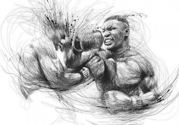 рисунки карандашом на тему спорт: