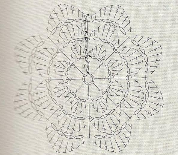 Ирландское кружево. Букетик цветов крючком (5) (594x519, 603Kb)