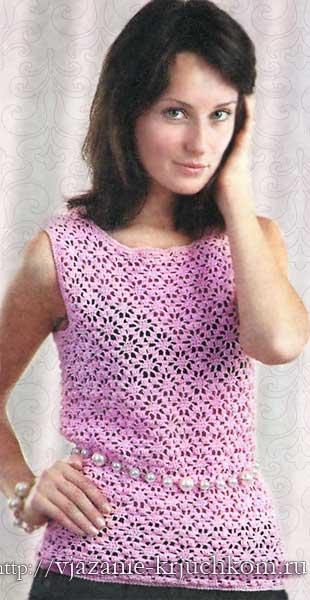 Вязание спицами для женщин с кокеткой 597