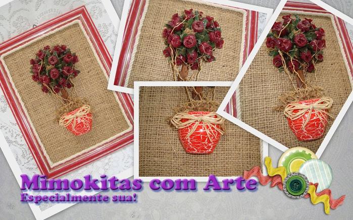 Мешковина, джут и цветочный горшок. Идеи декоративных панно (1) (700x437, 413Kb)