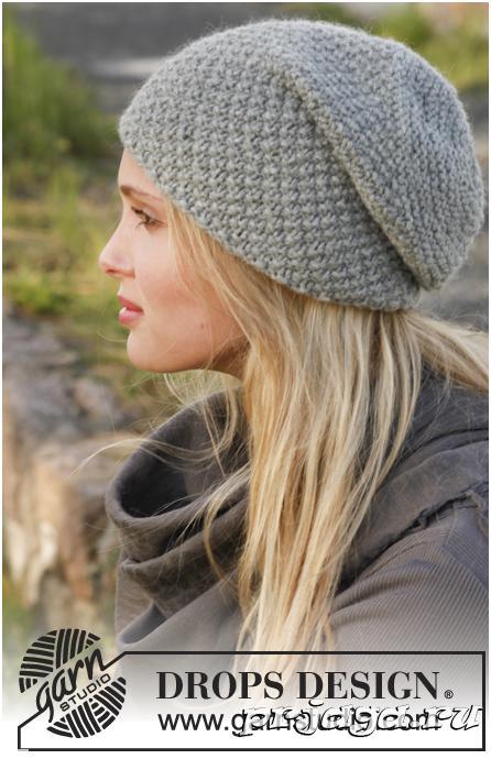 Вязаная шапка спицами для