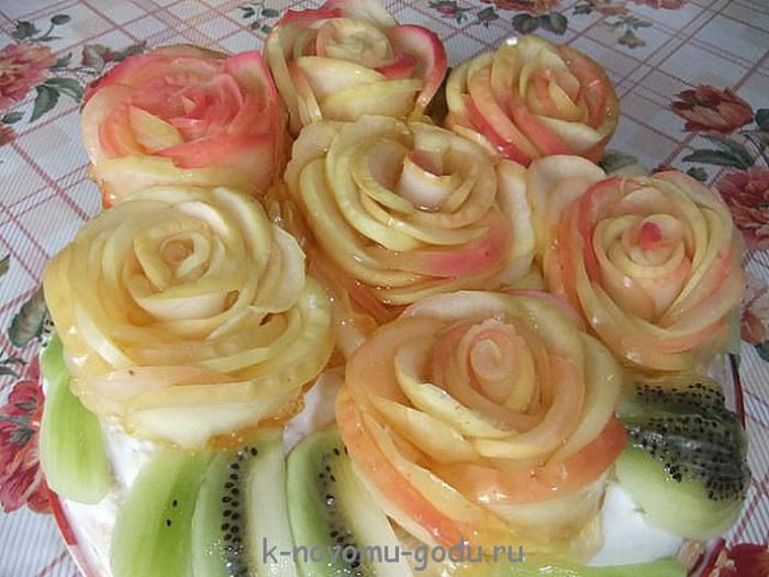 Как сделает яблоко в розу 552