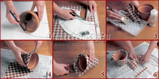 Как сделать горшки для цветов своими руками фото