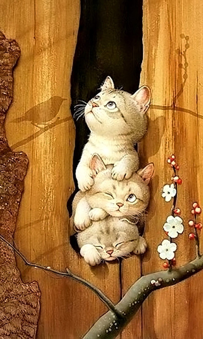kittens-in-spring (420x700, 357Kb)