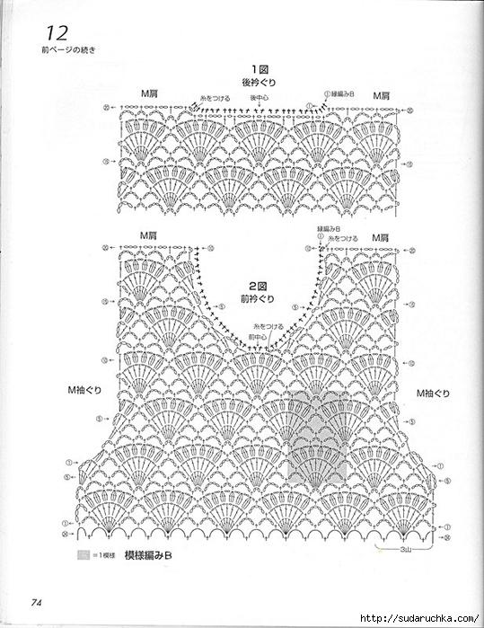 Схемы топиков и маечек крючком
