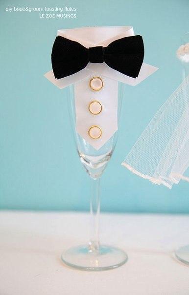 свадебные бокалы своими руками (3) (386x604, 97Kb)