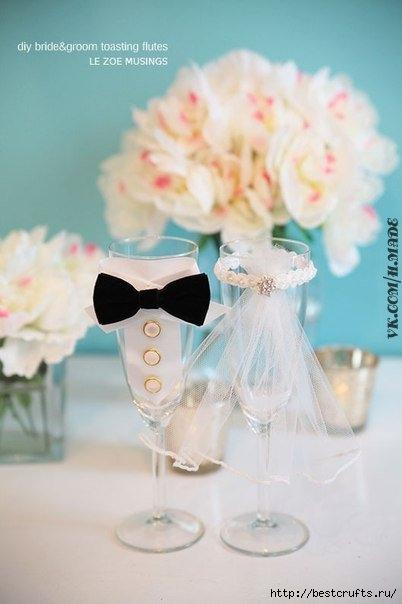 свадебные бокалы своими руками (7) (402x604, 98Kb)