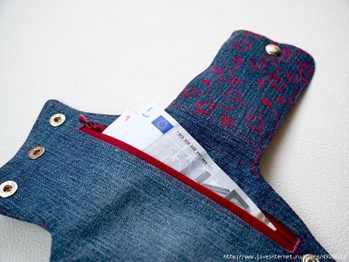 旧牛仔裤还能干什么?46 : 夏天的袖套钱包  - maomao - 我随心动