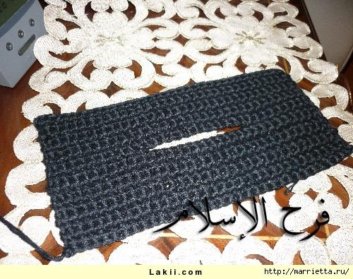 Вязание крючком. Коробочка для салфеток (1) (500x395, 244Kb)
