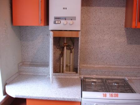Газовая труба на кухне дизайн