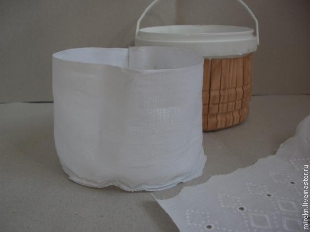 Корзинка для рукоделия из бросового материала. Мастер класс