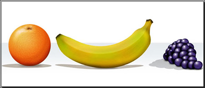 Рисовать фрукты в фотошопе