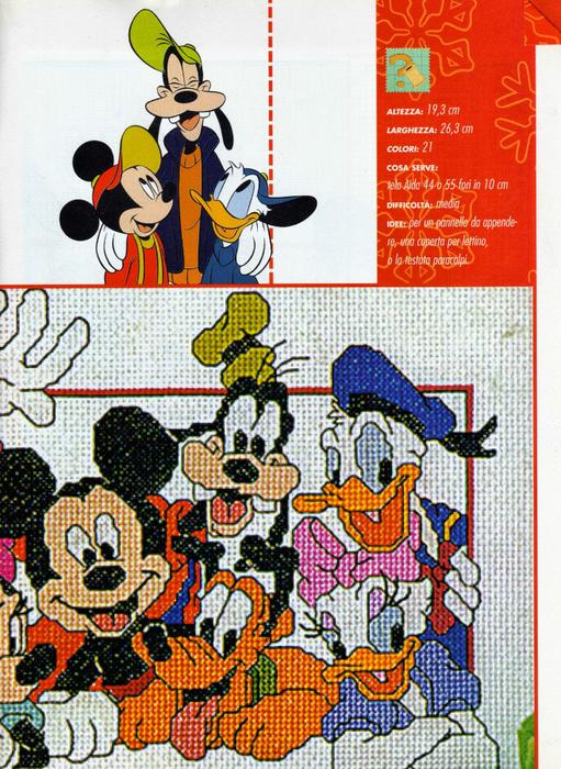 Микки Маус. Схемы вышивки для детских вещей (1) (511x700, 595Kb)