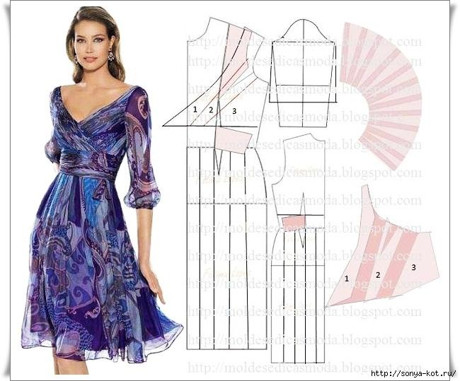 Модели прямого платья с выкройками