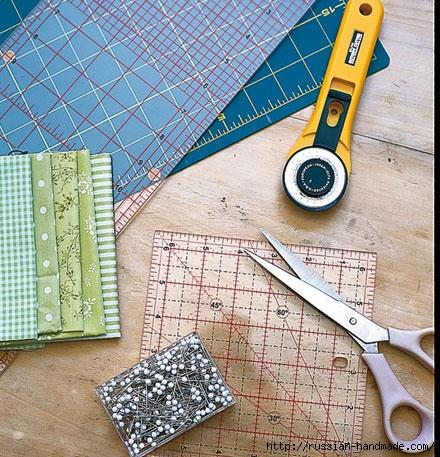 Шьем одеяло в технике ПЭЧВОРК. Учебный курс (3) (440x457, 224Kb)