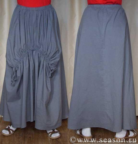 Сшить юбку из брюк видео