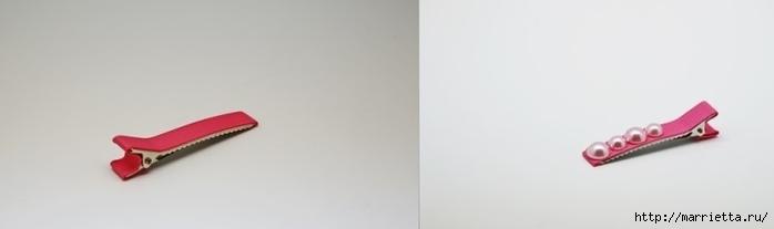 Украшение заколок для волос бантиком из тесьмы (6) (700x207, 35Kb)